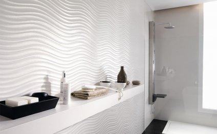 Белая плитка для ванной