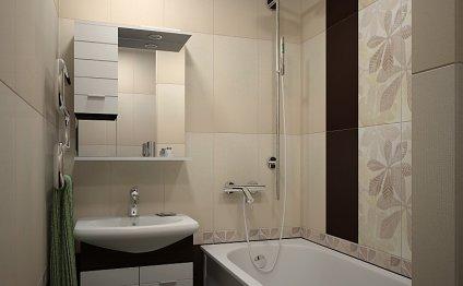 Дизайн маленькой ванны без