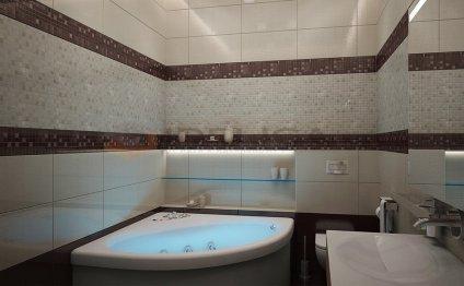 Ванна бежевая Дизайн ванной