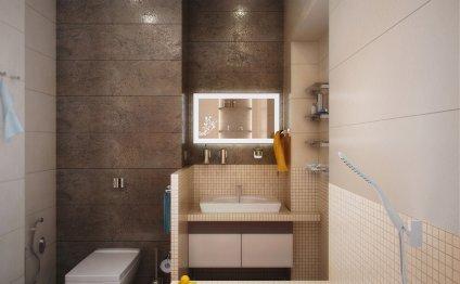 Дизайн интерьера ванной в