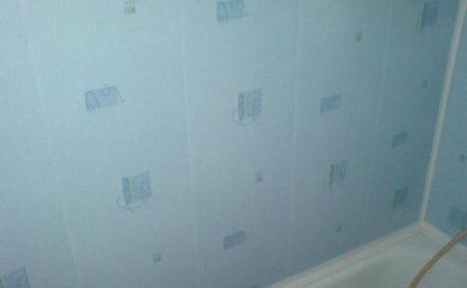 отделка стен ванны панелями