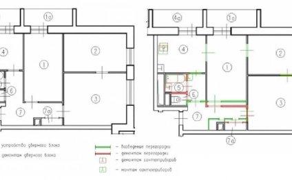 Перепланировка 3 х комнатной