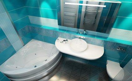 Дизайн ванной совмещенной с
