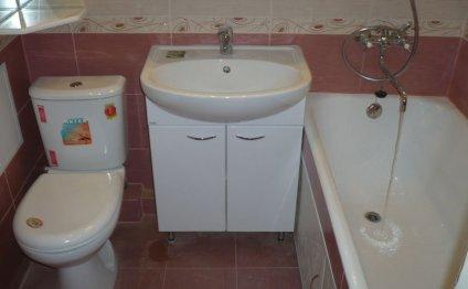 ванная комната сиреневого