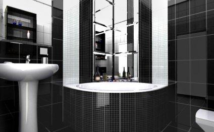Ванная в черно белом: