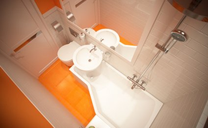 ванной комнаты 2 кв. м